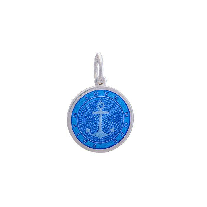 Periwinkle Anchor Pendant in Sterling Silver
