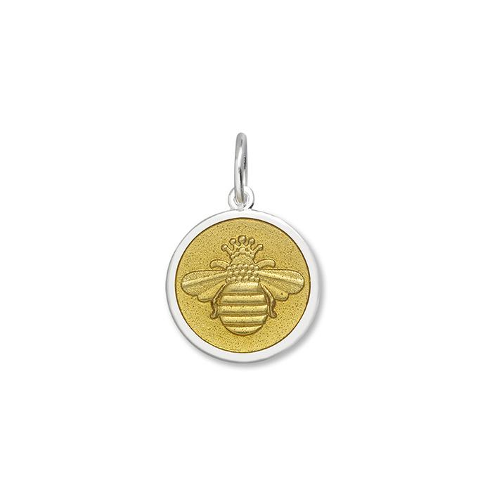 Gold Bee Pendant in Sterling Silver