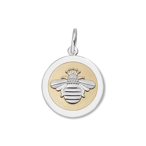 Gold Queen Bee Pendant in Sterling Silver 27mm - Silverscape Designs