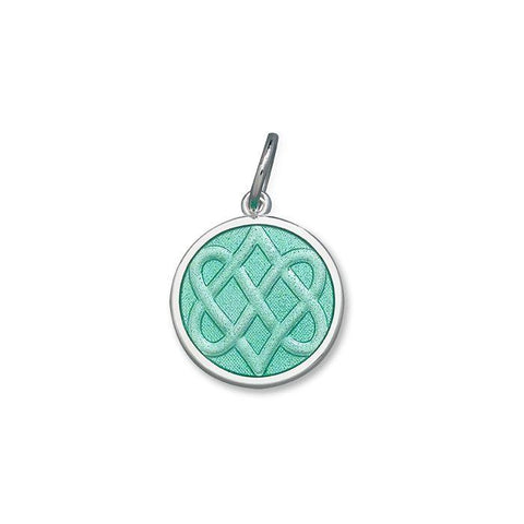 Seafoam Celtic Knot Pendant in Sterling Silver