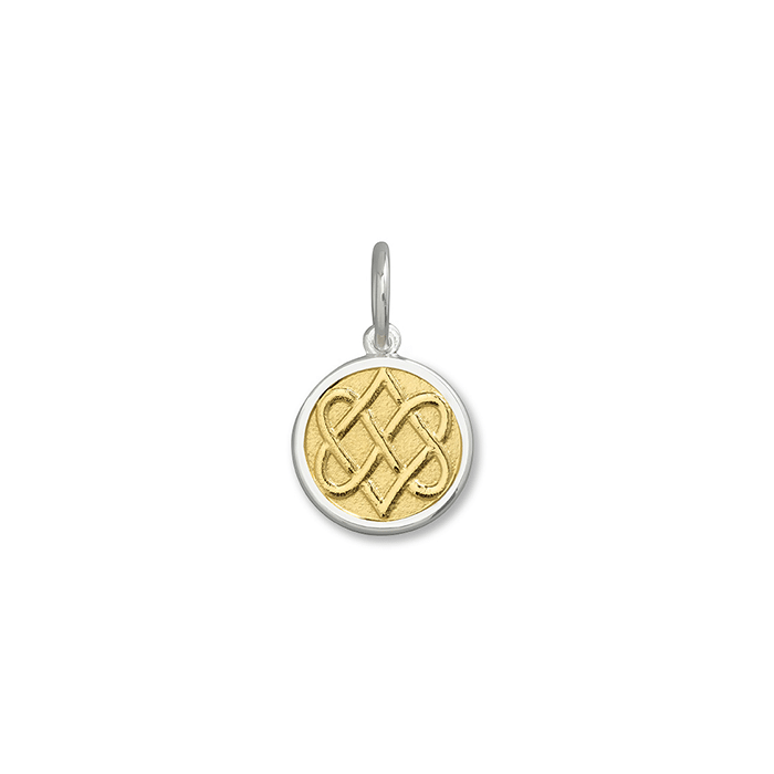 Gold Vermeil Center Celtic Knot Pendant in Sterling Silver