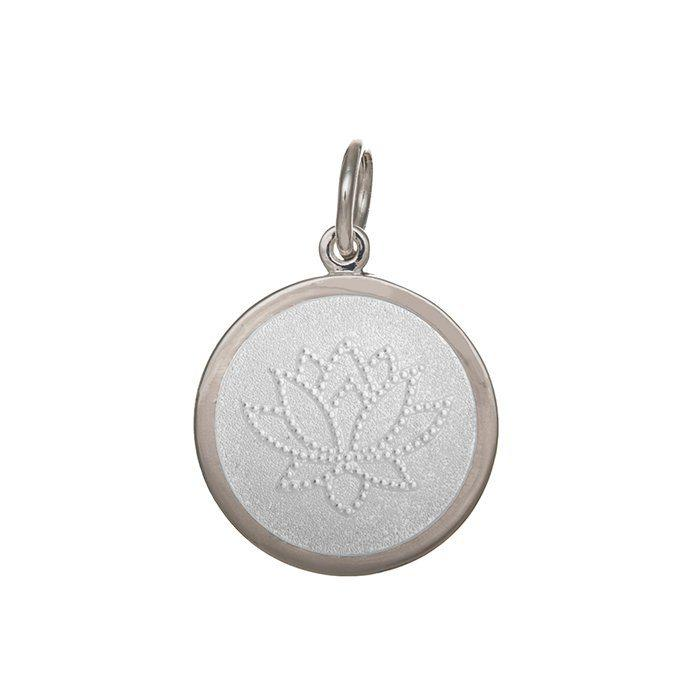 White Lotus Pendant in Sterling Silver