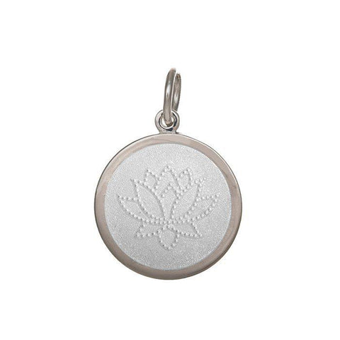 White Lotus Pendant in Sterling Silver 27mm - Silverscape Designs