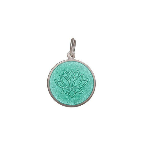 Seafoam Lotus Pendant in Sterling Silver