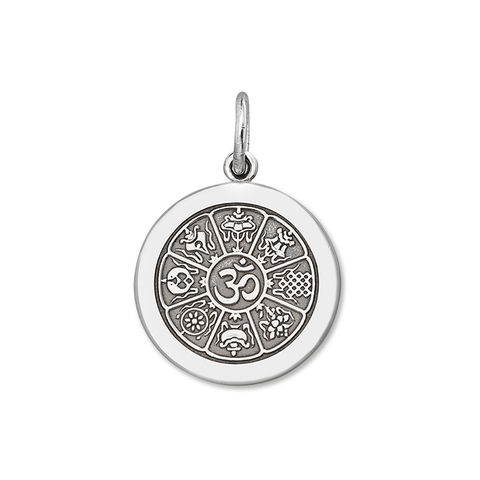 Grey OM Pendant in Sterling Silver - Silverscape Designs