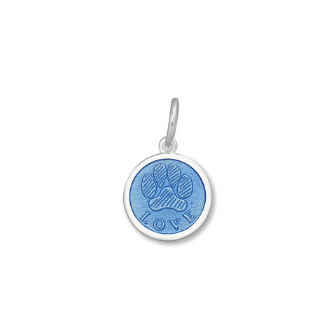 Periwinkle Paw Print Pendant in Sterling Silver 15mm