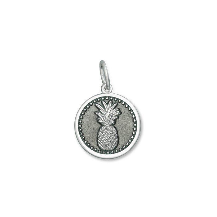 Pewter Pineapple Pendant in Sterling Silver