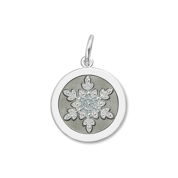 Pewter Snowflake Pendant in Sterling Silver