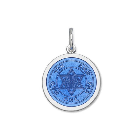 Periwinkle Star of David Pendant in Sterling Silver
