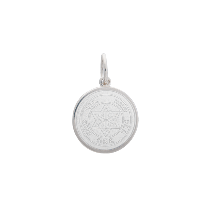 White Star of David Pendant in Sterling Silver
