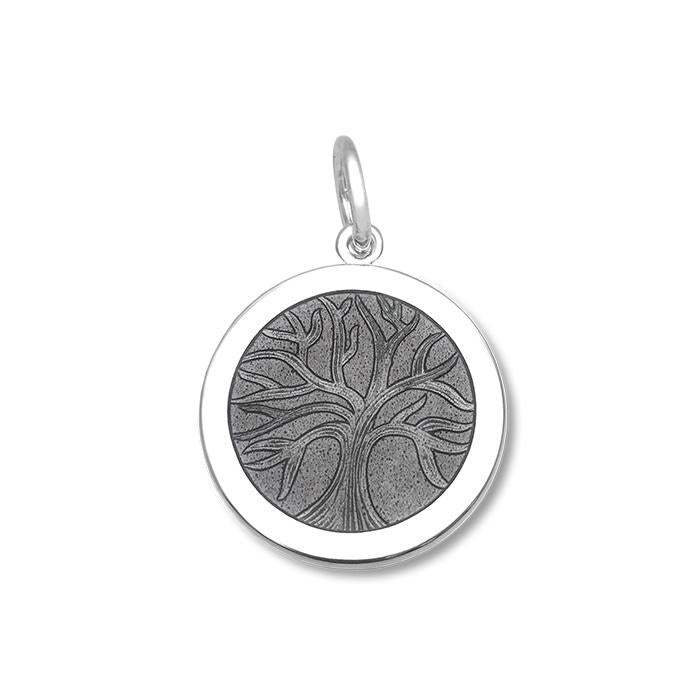 Pewter Tree of Life Pendant in Sterling Silver 27mm - Silverscape Designs