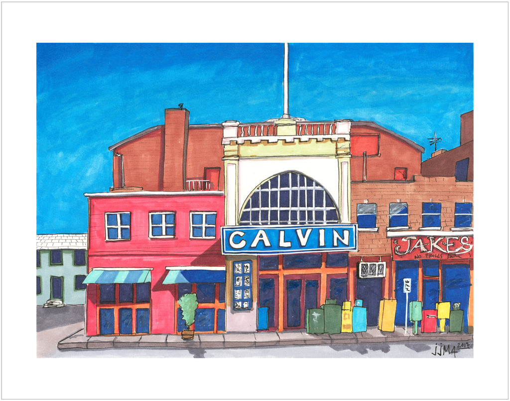 Calvin Theater Original Painting - Silverscape Designs