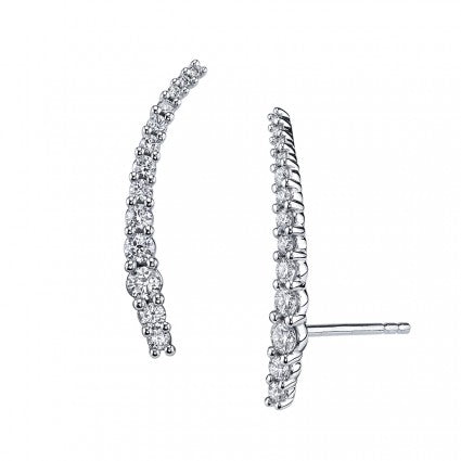 Elegant Prong Diamond Ear Climber