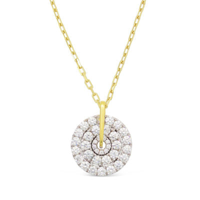 Two Toned Diamond Pendant