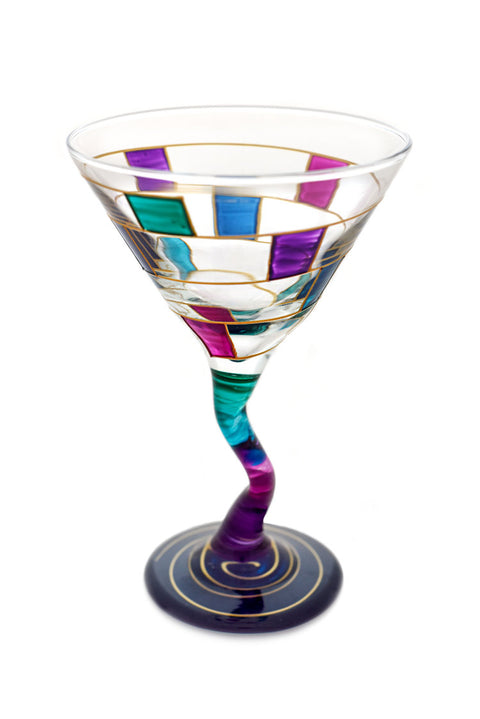 Crooked Stem Martini Glass - Silverscape Designs