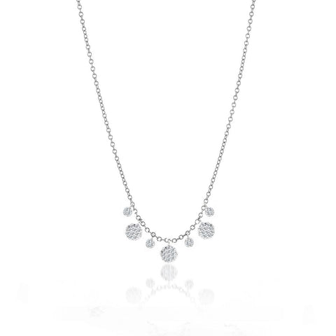 Diamond Disk Layering Necklace - Silverscape Designs