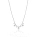 Miera T .10 TCW Diamond Disk 14k White Gold Layering Necklace