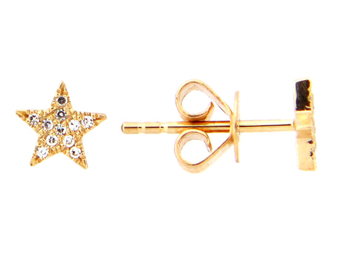 Diamond Star Stud Earring - Silverscape Designs