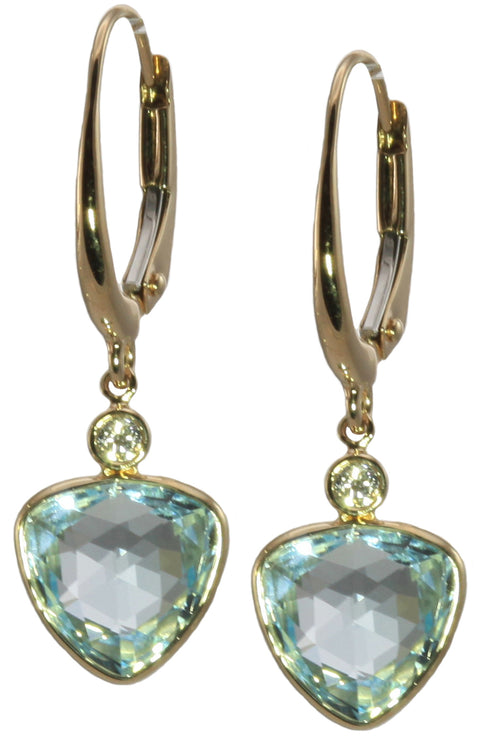 Sky Blue Topaz Latch Back Earrings