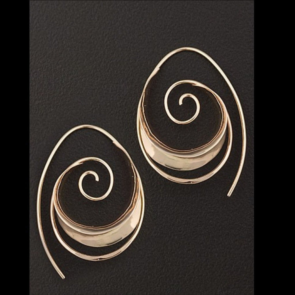 Anticlastic Earring in Sterling Silver - Silverscape Designs