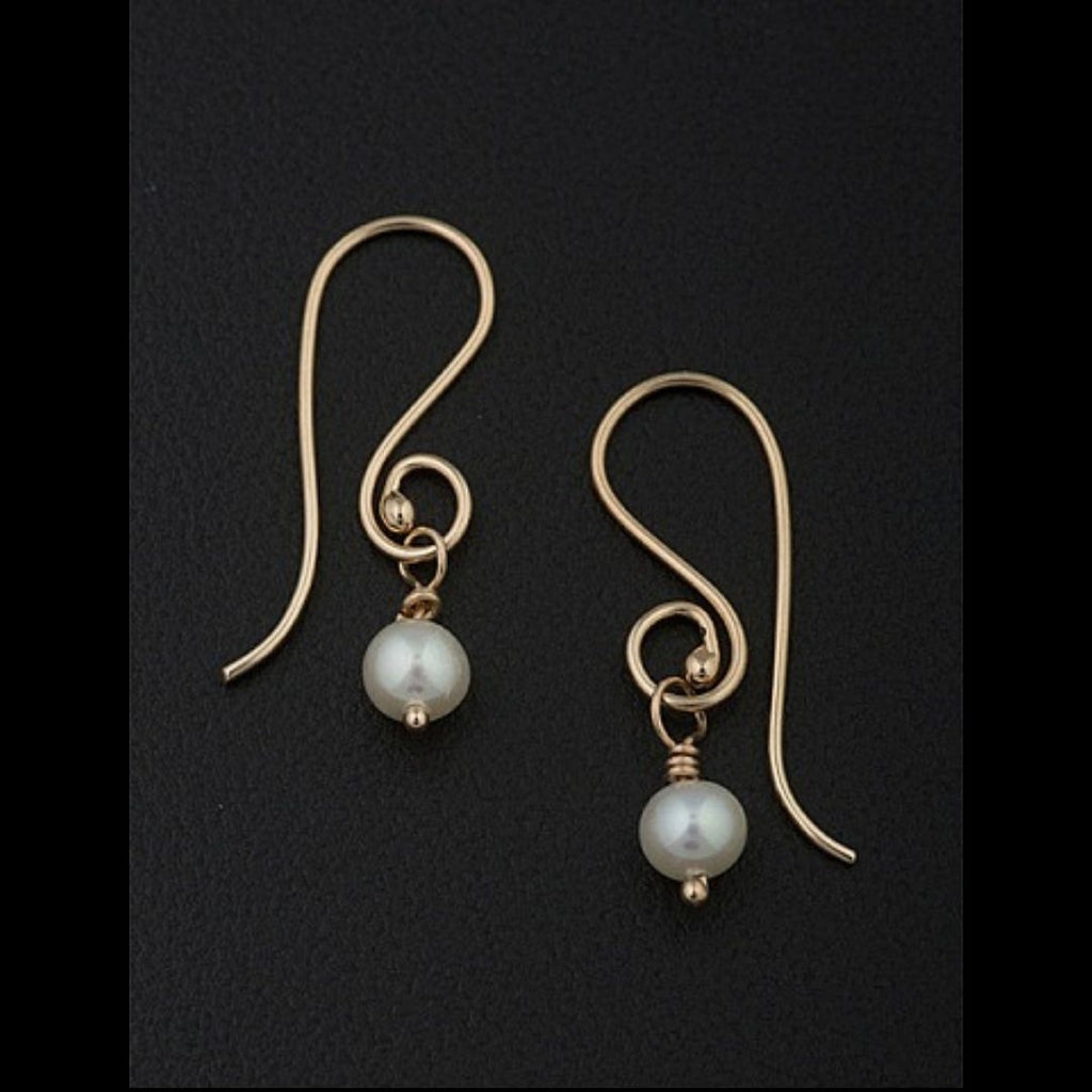 Pearl Drop Earrings in Sterling Silver - Silverscape Designs