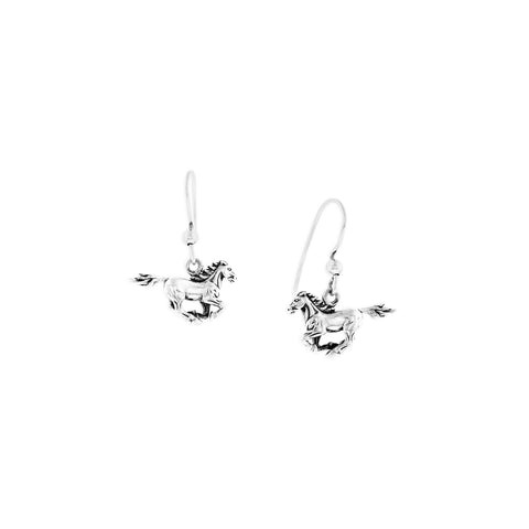Sterling Silver Horse Earring