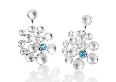 Breuning Sterling Silver and Blue Topaz Earrings