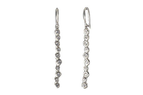 EAM Sterling Silver Dewdrop Dangle Earrings