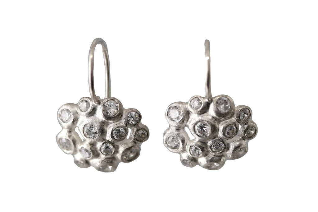 EAM Sterling Silver Dewdrop Cluster Earrings