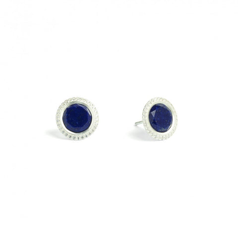 Tisinni Lapis and Sterling Silver Stud Earrings - Silverscape Designs