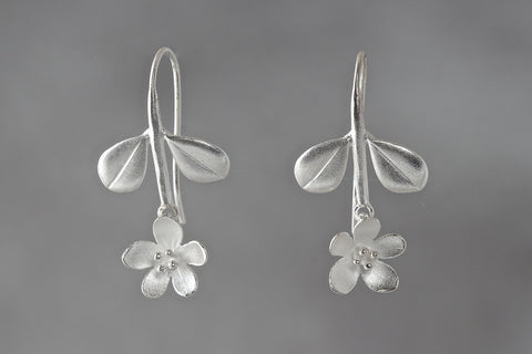 Mini Boxwood Apple Blossom Earrings (2 Stone Options)