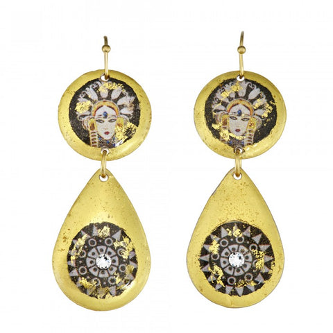 Evocateur Byzantine Erte Mini Earrings