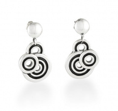 Zina Sterling Silver Spiralz Post Earrings