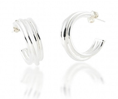 Zina Sterling Silver Wire Hoops