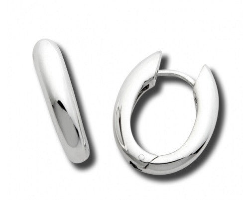 Contemporary U Snap Hoops - Silverscape Designs