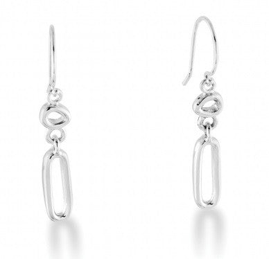 Zina Sterling Silver Mini Touchstone Short Drop Earrings