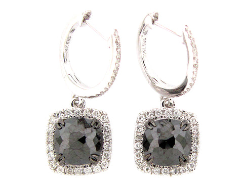Black/White Diamond Earrings in Gold - Silverscape Designs