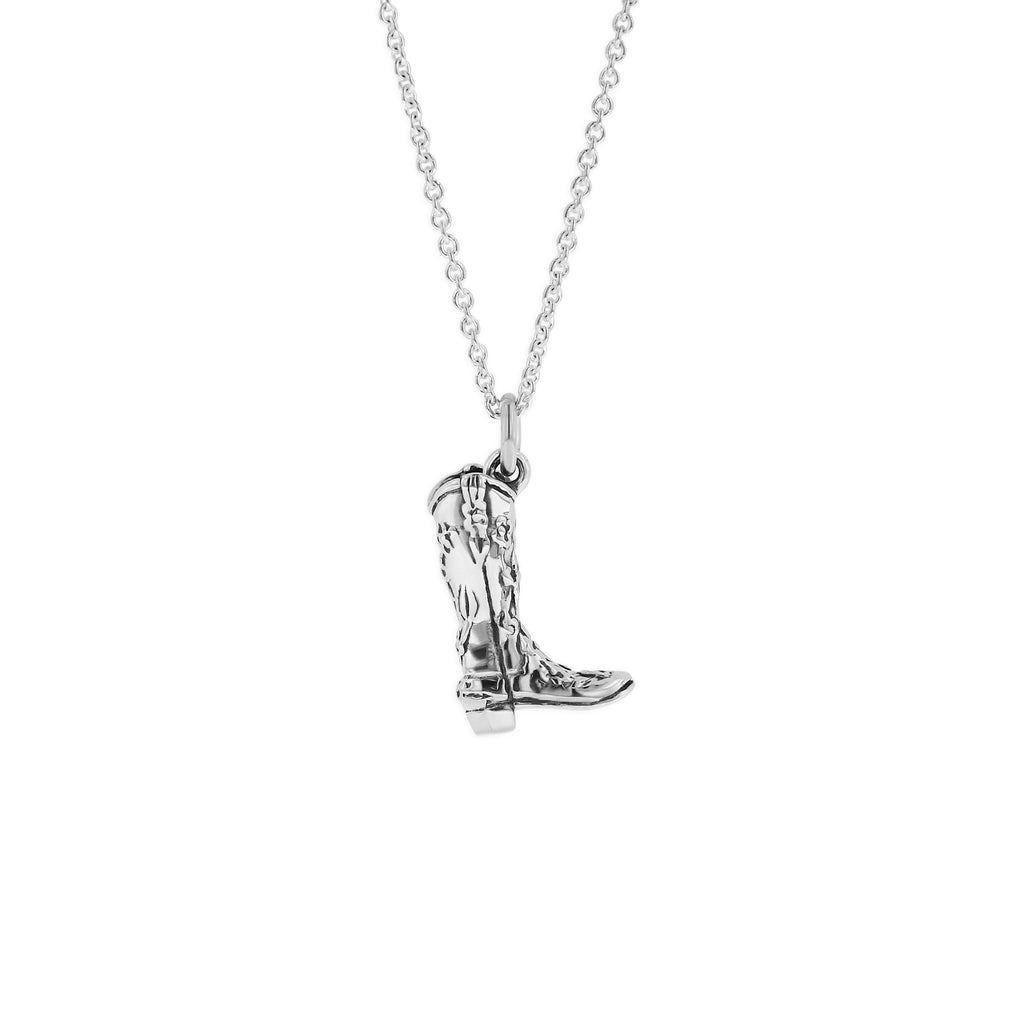 Sterling Silver Cowboy Boot Charm by Kabana