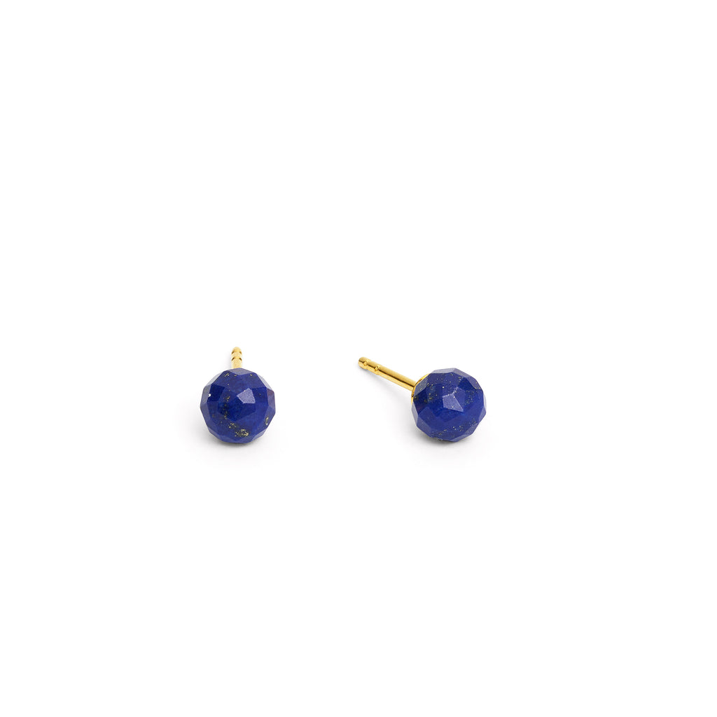 Facello Lapis Lazuli Stud Earrings - Silverscape Designs