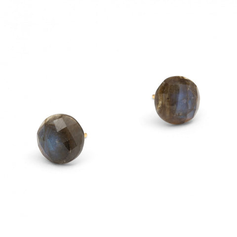 Goa Labradorite Stud Earrings - Silverscape Designs
