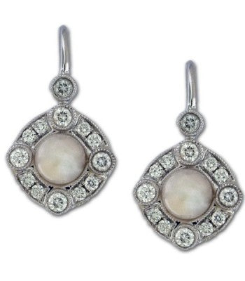 Pearl and Diamond Dangles