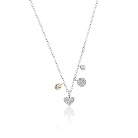 Mini Heart Charm Layering Necklace - Silverscape Designs