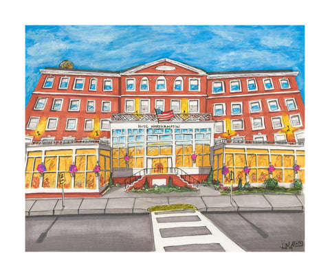 Hotel Northampton Original Painting - Silverscape Designs