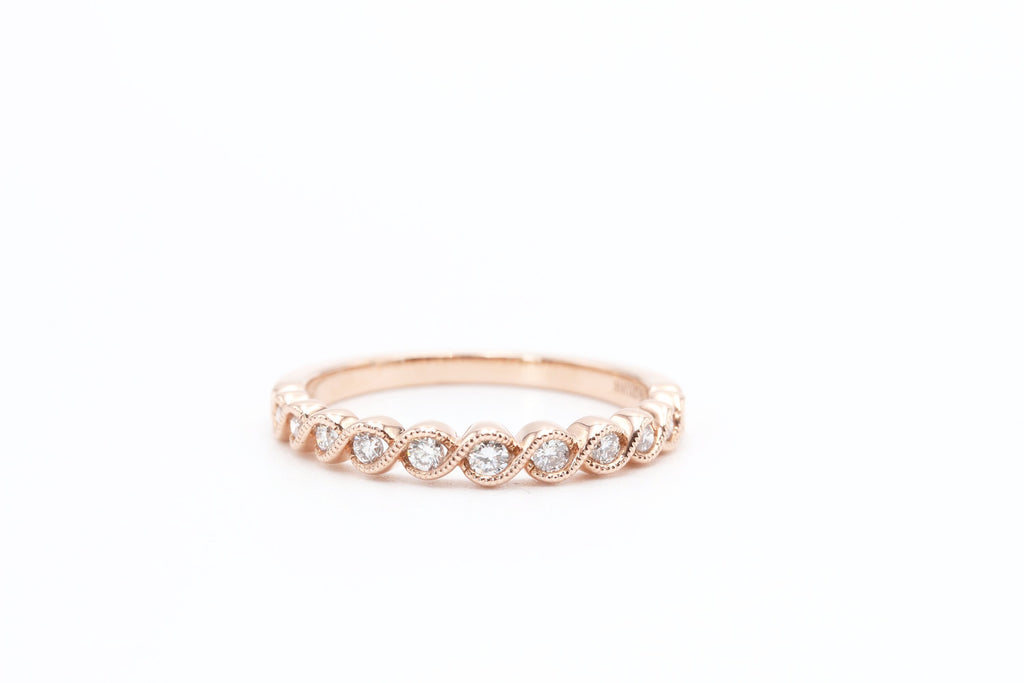 Stackable diamond rings