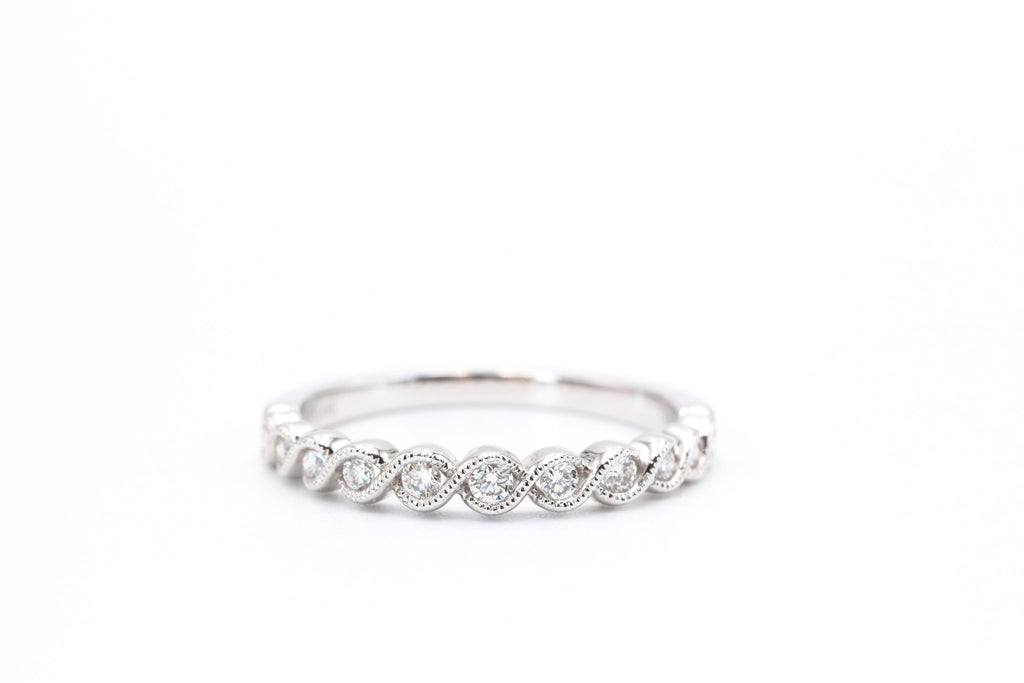 White Gold Stackable Diamond Band