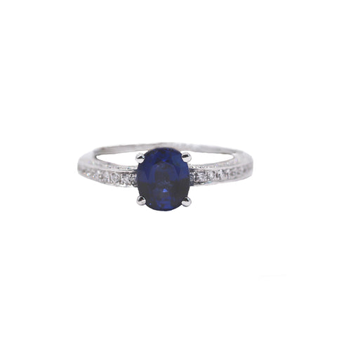 Stunning Oval Sapphire Ring