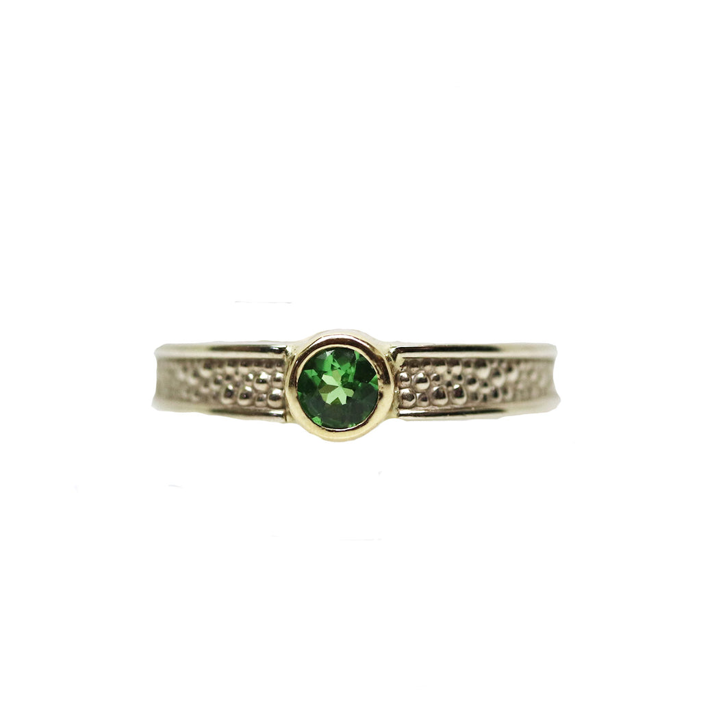 Two Tone Tsavorite Ring