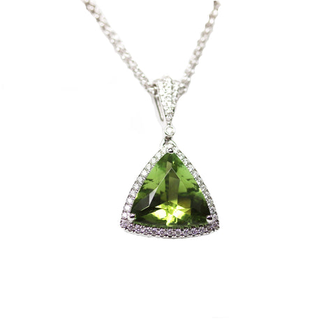 Trillion Tourmaline Pendant
