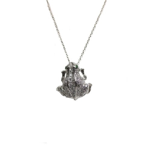 Diamond Frog Necklace