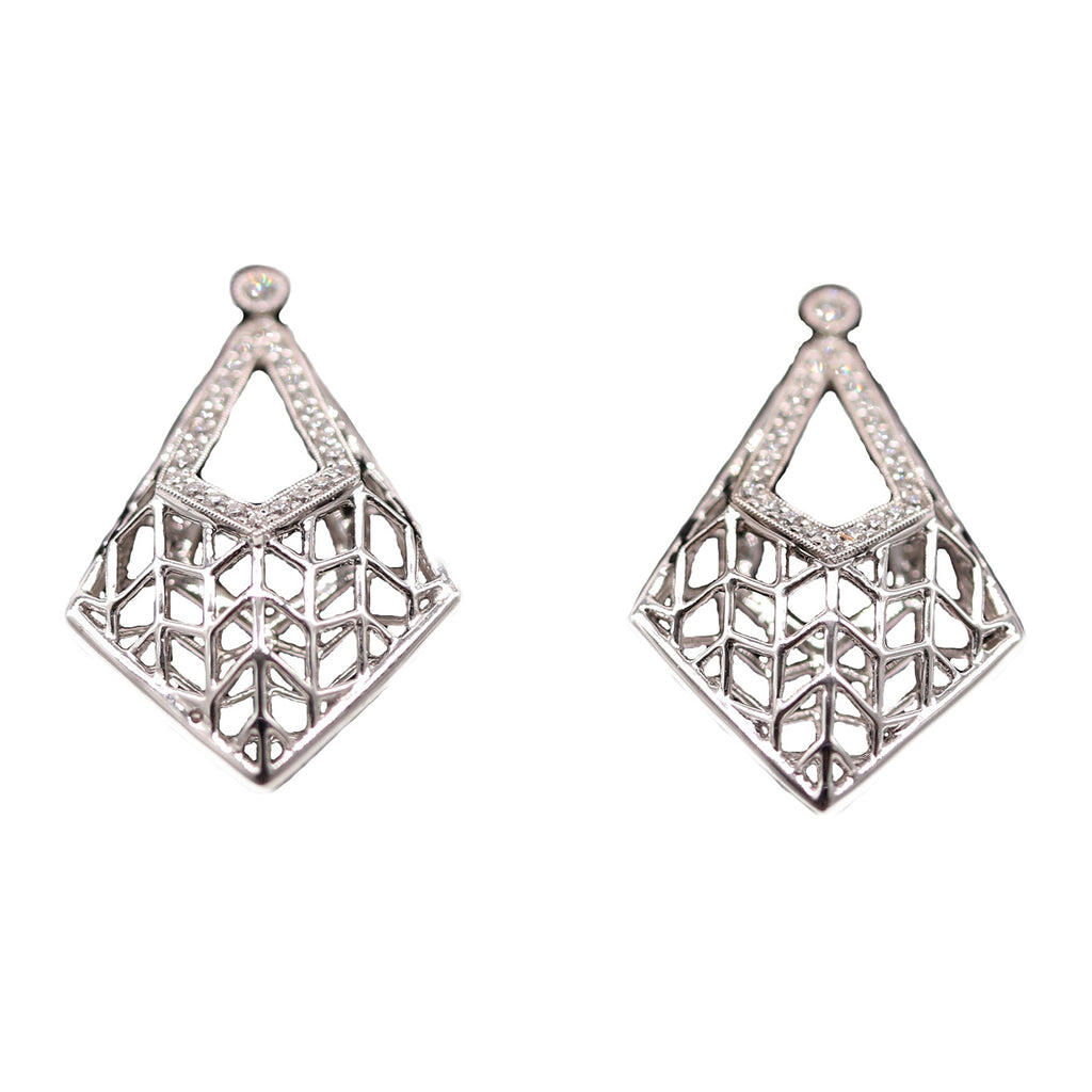 Open Diamond Kite Earrings